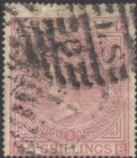 1867 5s Pale Rose SG127 Plate 1 'FB'